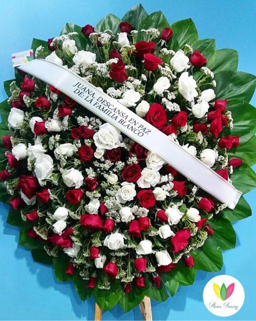 Corona Fúnebre Rosas en República Dominicana